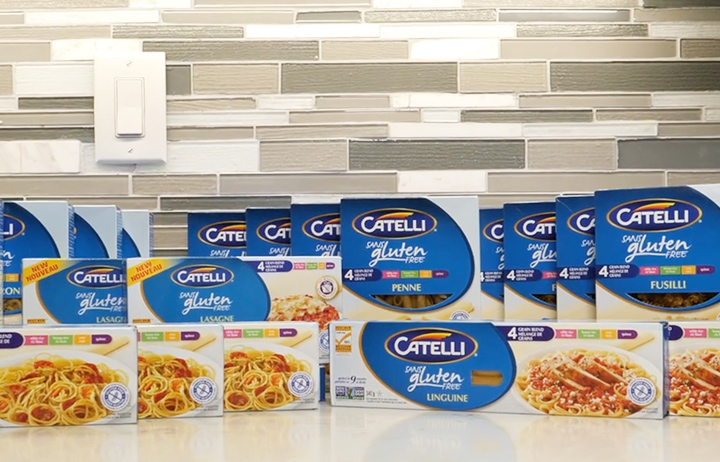 Catelli gluten free pasta product line